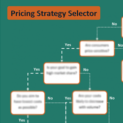 Our Pricing Strategy Selector provides a great reference guide to explore seven pricing strategy options. You can follow a decision tree or explore the pros